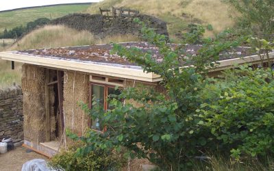 Green roofs and strawbale