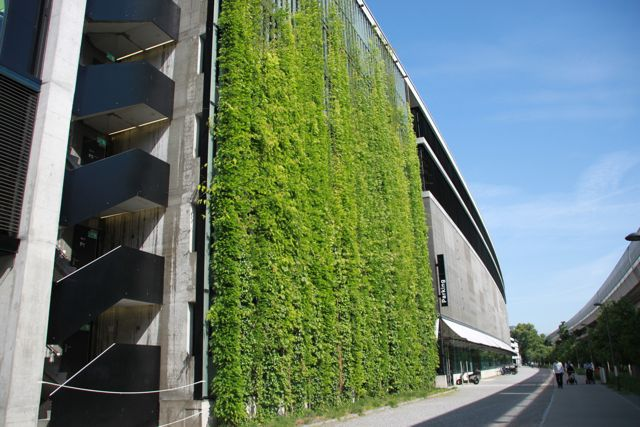 The green wall at Sihl City in Zurich