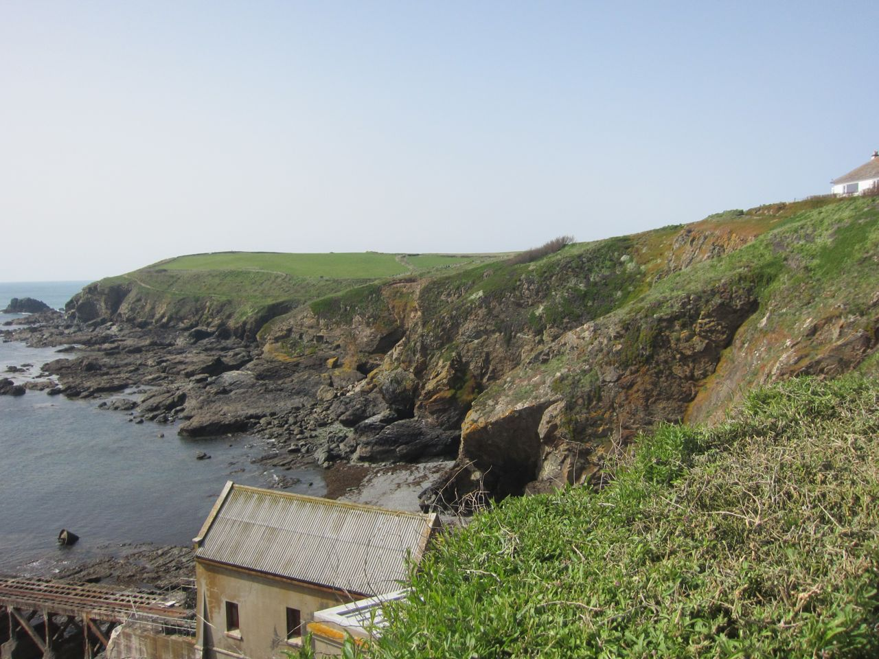 cliff view at the Lizard, Cornwall