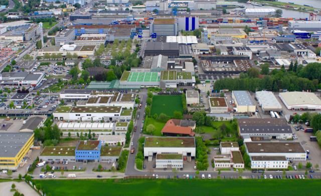 Industrial Zone - green roofs Linz, Austria