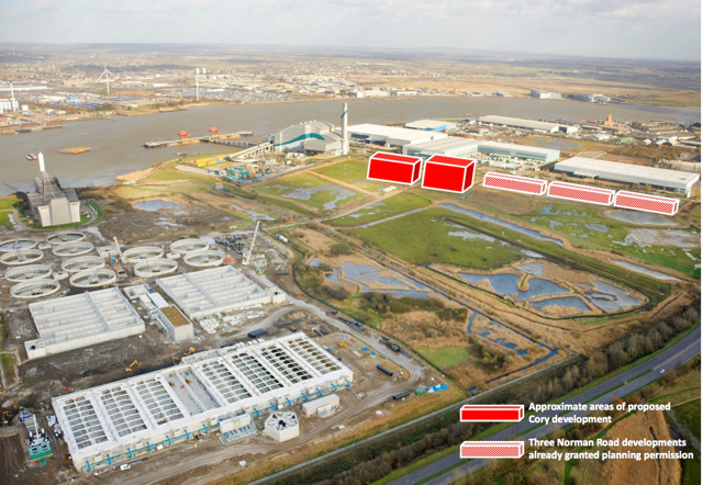 Planned Industrial Sheds - Erith Marshes